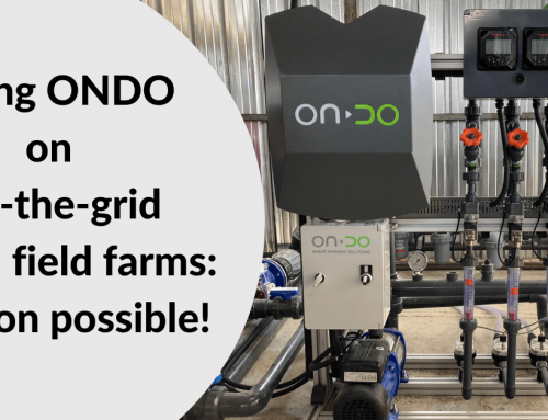 Using ONDO on off-the-grid open fields farms: mission possible